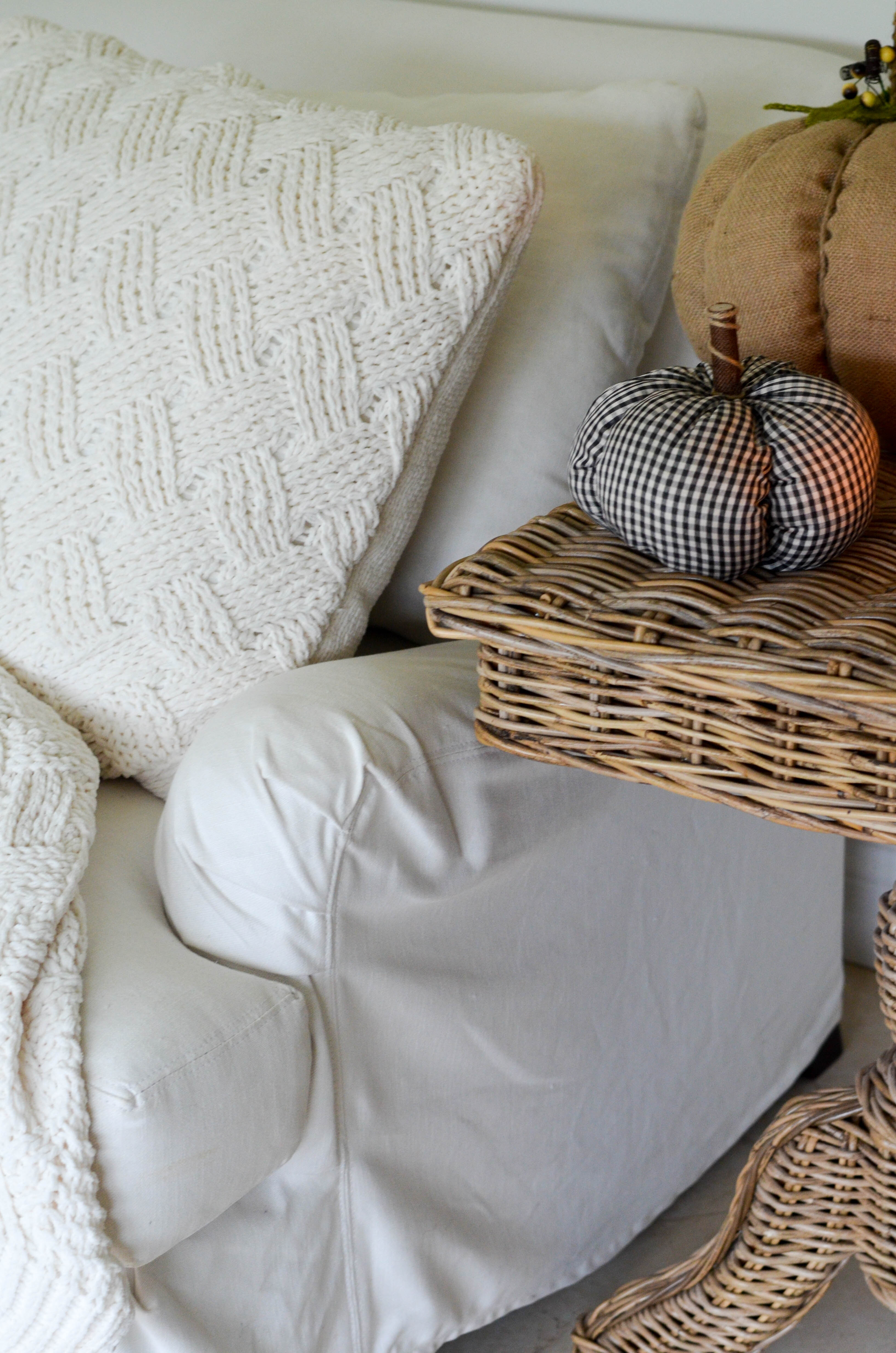 HOW TO KEEP A WHITE SLIPCOVERED SOFA CLEAN