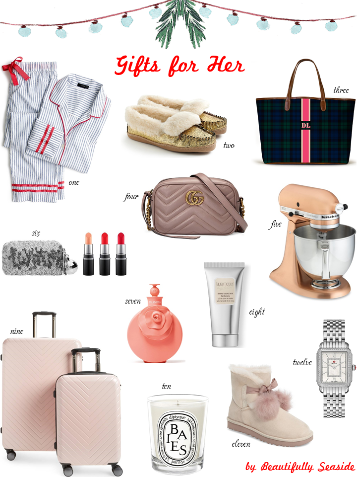 Holiday gift guide for her beautifully seaside Best xmas gifts for her